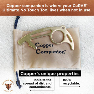 USA Made EPA Reg. Antimicrobial No Touch Tool CuRVE® Striker and Copper Companion™ Tool Micro Mini Metal