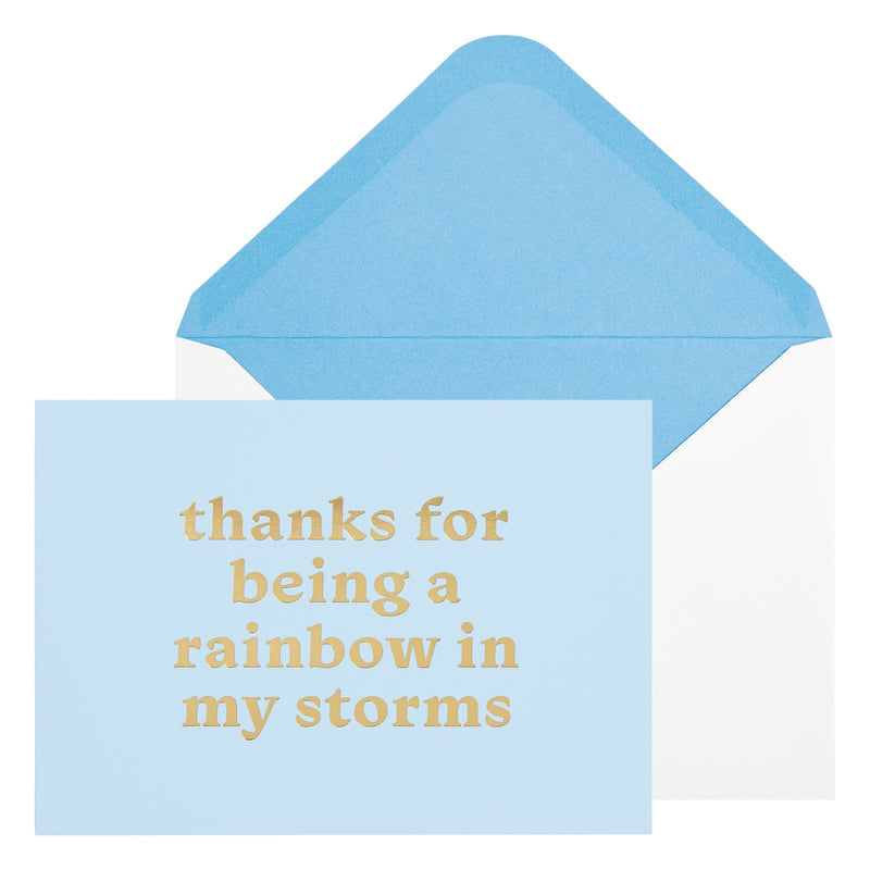 A6 Greeting Card Rainbow Bluebell: Noteworthy