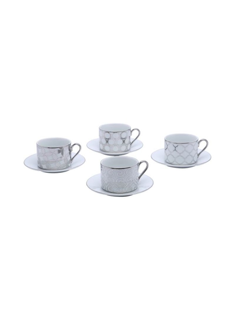 Luxe Tea Cups with Saucers
