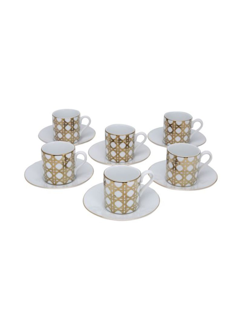 Patio Party Espresso Cups with Saucers