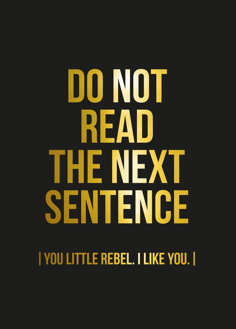 Poster REBEL Black