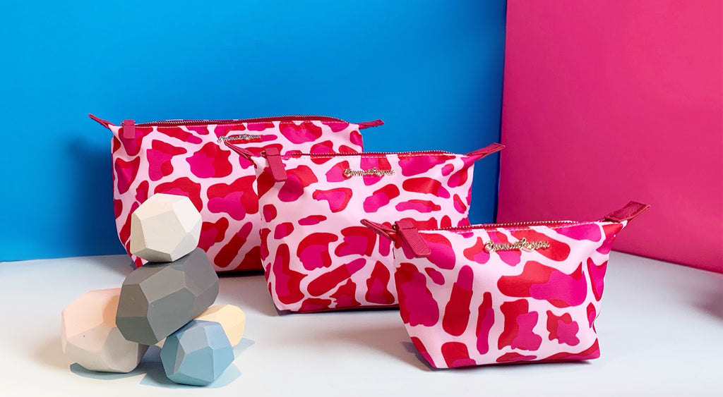 Pink Camo collection Travel Makeup Bags, Emma Lomax