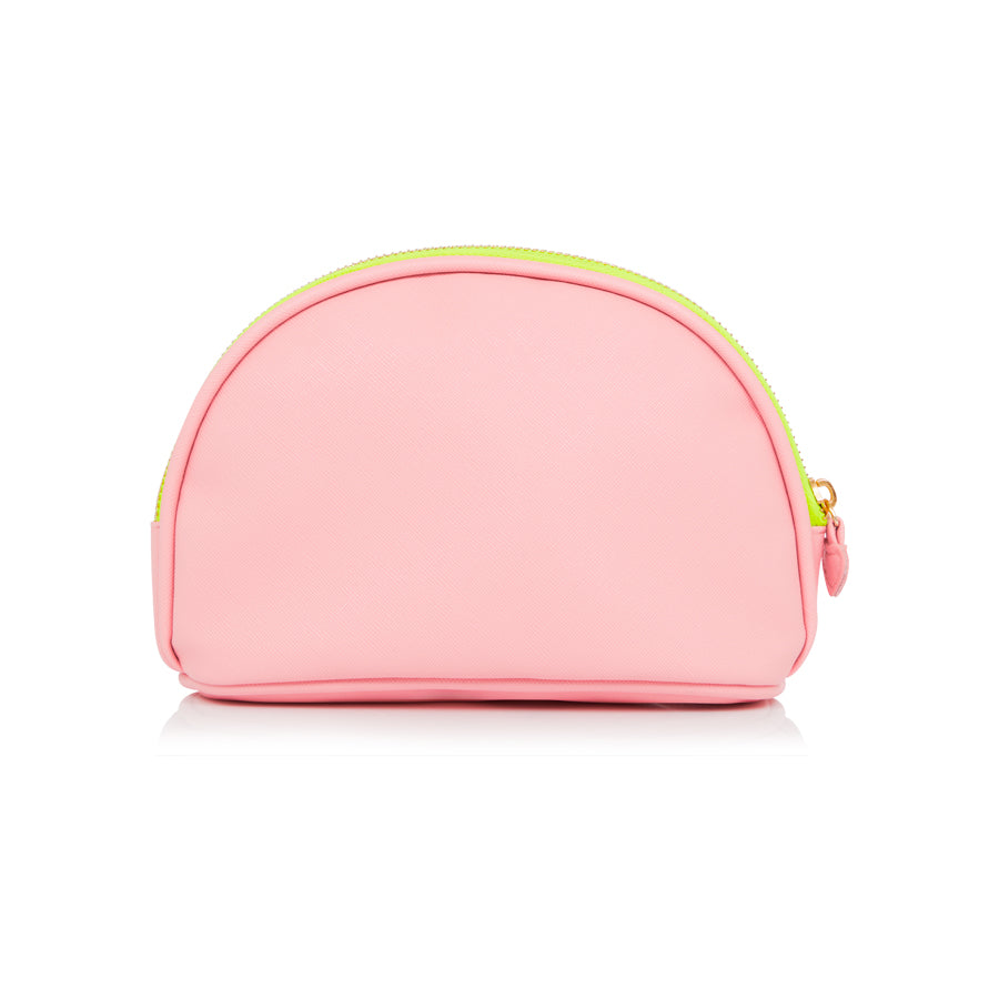 Plain Candy Floss Pink Makeup Bag