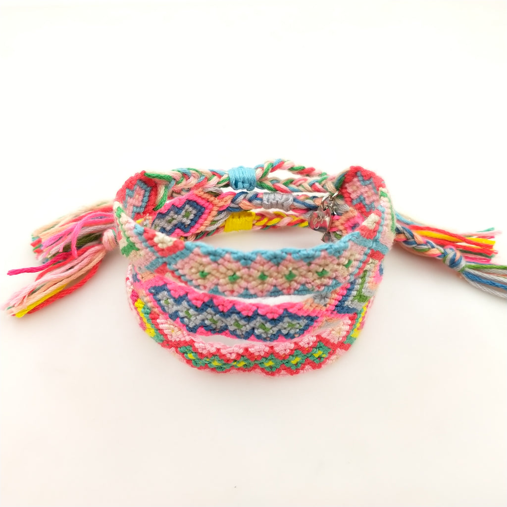 Daisy and Emma Woven Friendship Bracelet