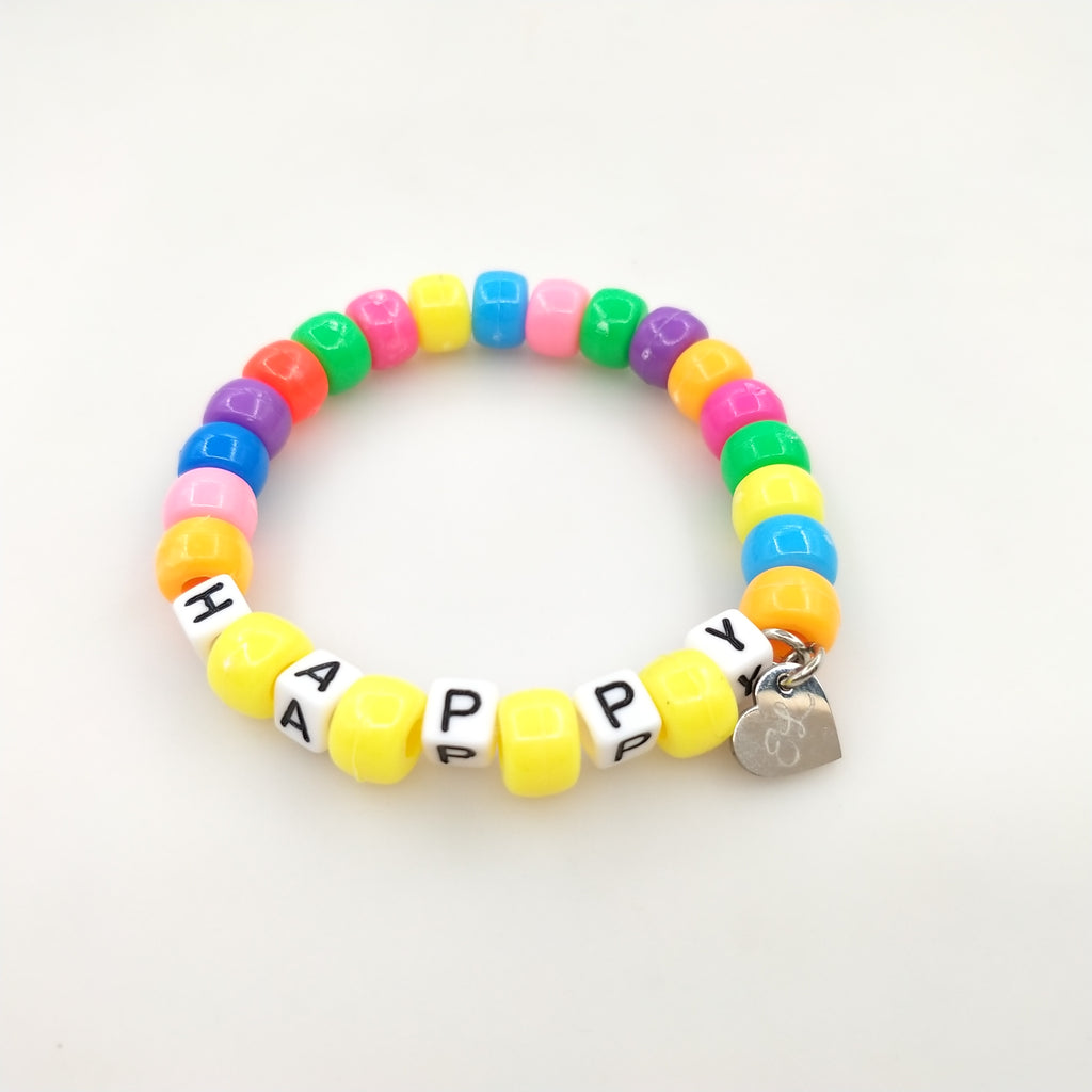 Be HAPPY Beaded Bracelet