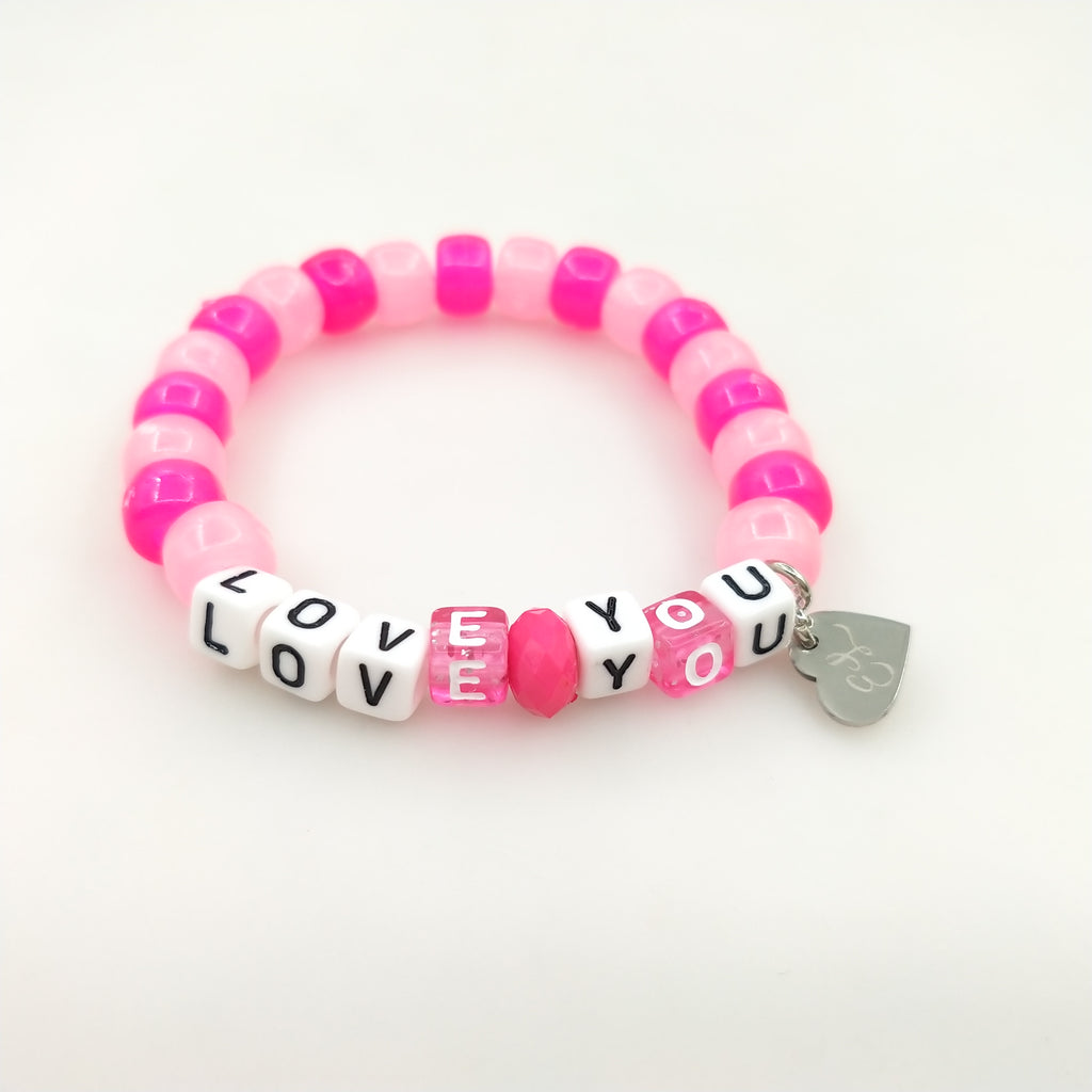 I Love You Beaded Bracelet