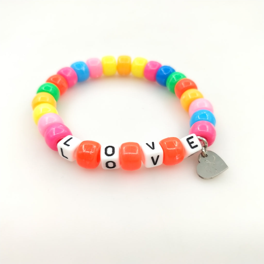 Fall in LOVE Beaded Bracelet