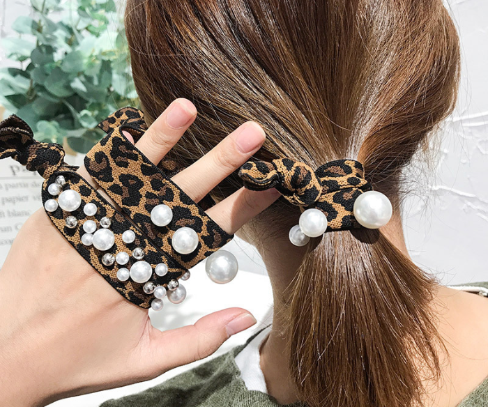 Leopard Print Hair Tie Pack of 2