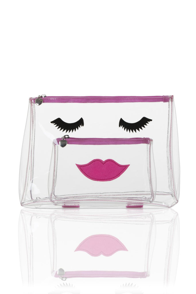 Clear Upvc Emoji Face Makeup Bag and Wash Bag Set emma Lomax