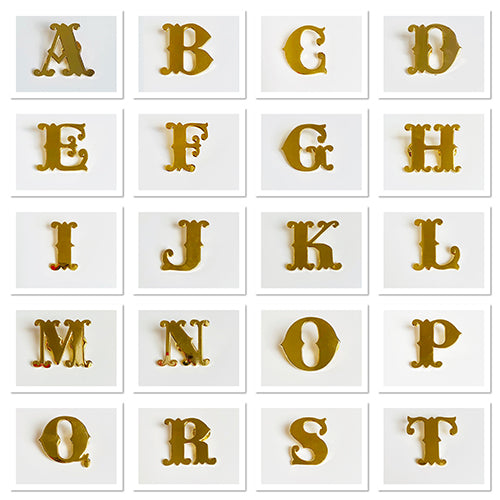 Gold Monogram Letters From A to T, Emma Lomax