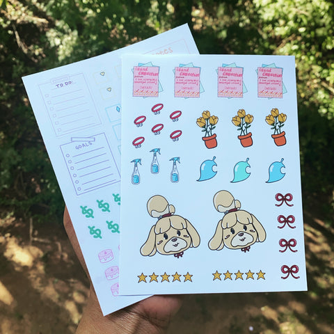 Isabelle Animal Crossing Sticker Set