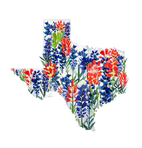 Texas Bluebonnets Map