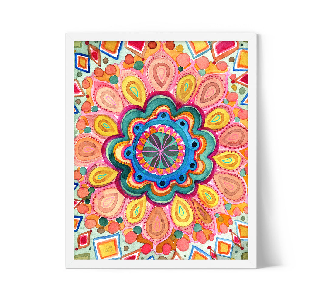 Summer Boho Mandala by Sara Franklin