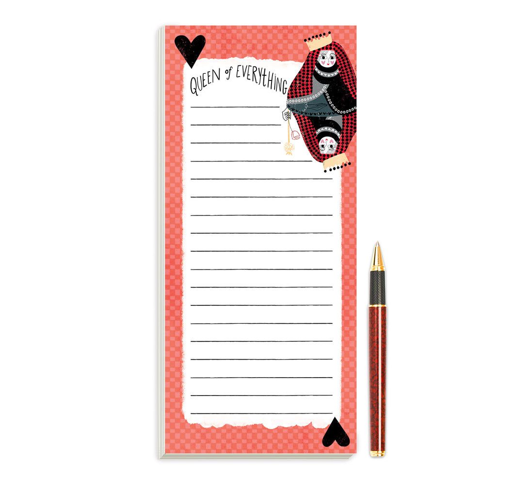 Queen of Everything Magnetic Notepad by Sara Franklin