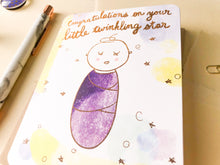 Load image into Gallery viewer, Twinkling Star Baby Card