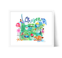 Load image into Gallery viewer, Oregon Map Wall Art by Sara Franklin