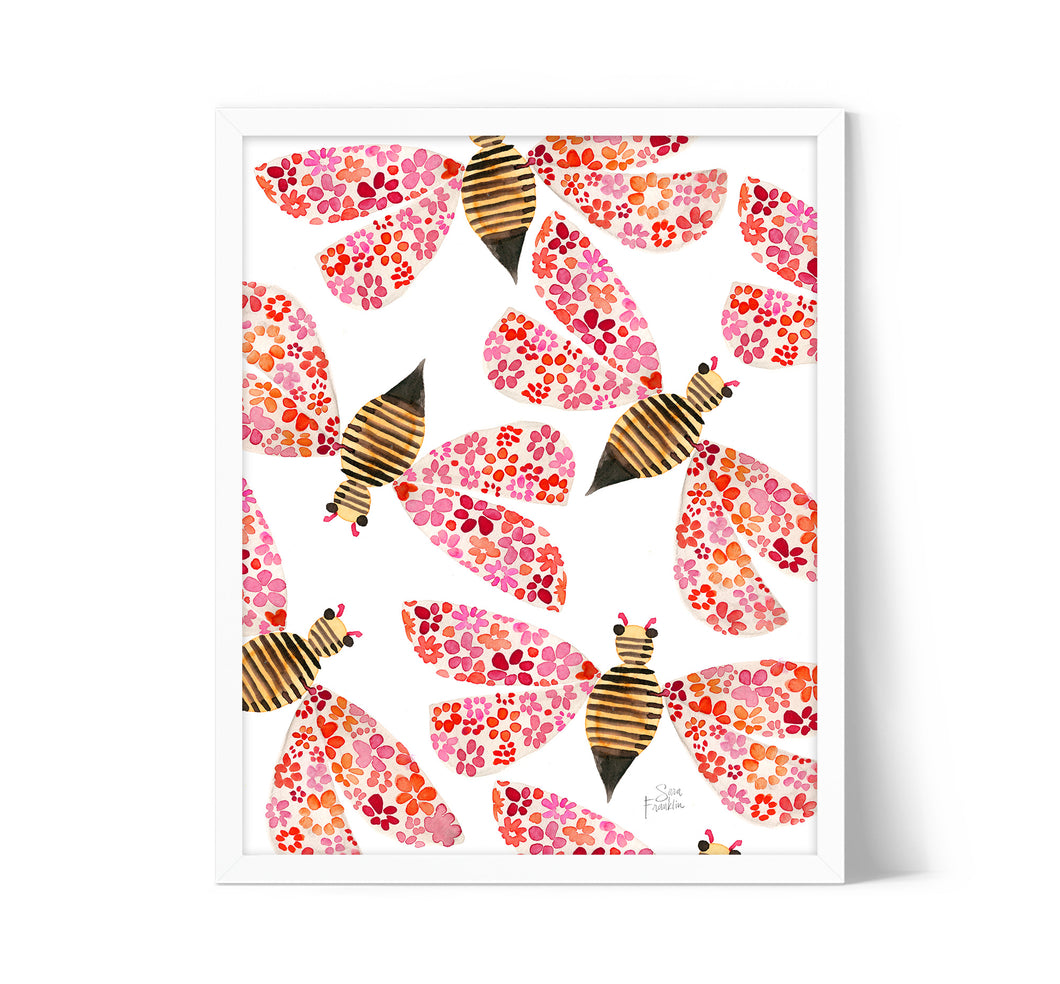 Boho Bees by Sara Franklin