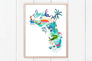 Florida Coastal Set of 3 by Sara Franklin