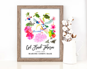 Personalized Hawaii Map by Sara Franklin, Map Your Military Journey