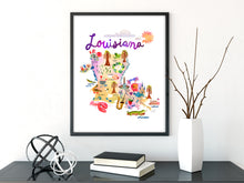 Load image into Gallery viewer, Louisiana Map by Sara Franklin