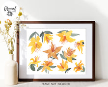 Load image into Gallery viewer, Native Azaleas Original Watercolor Painting by Sara Franklin