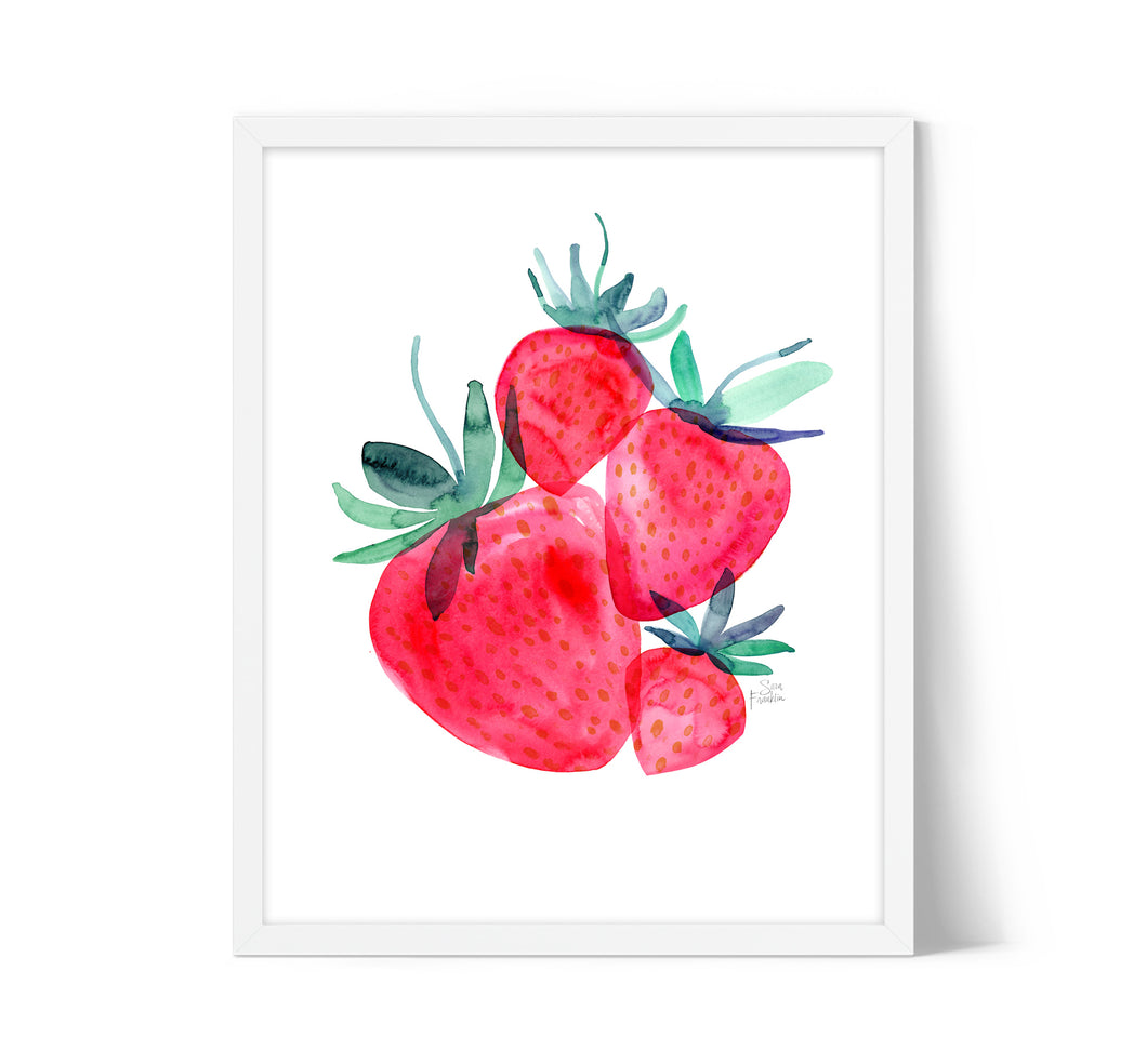 Strawberry Wall Art by Sara Franklin