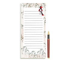 Load image into Gallery viewer, Woodland Bird Magnetic Notepad by Sara Franklin
