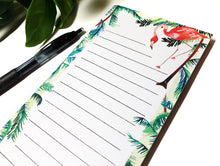 Load image into Gallery viewer, Flamingo Magnetic Notepad by Sara Franklin