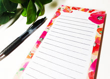 Load image into Gallery viewer, Poppies Magnetic Notepad by Sara Franklin