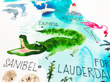 Load image into Gallery viewer, Florida Map by Sara Franklin