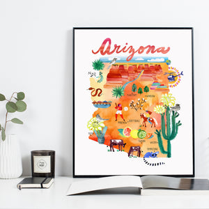 Arizona Map by Sara Franklin