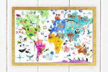 Load image into Gallery viewer, World Map by Sara Franklin