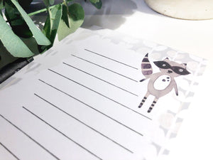 Raccoon Magnetic Notepad by Sara Franklin