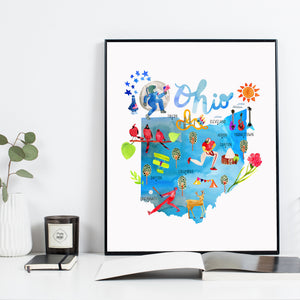 Ohio State Map by Sara Franklin
