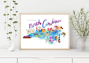 North Carolina Map by Sara Franklin