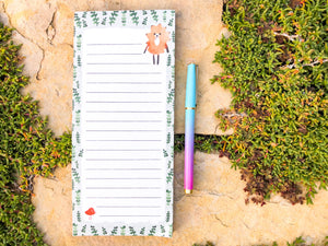 Hedgehog Magnetic Notepad by Sara Franklin