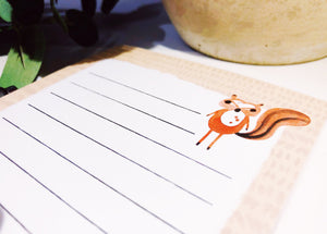Squirrel Magnetic Notepad by Sara Franklin