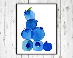 Blueberry Print by Sara Franklin