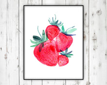 Load image into Gallery viewer, Strawberry Wall Art by Sara Franklin