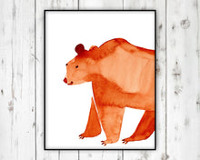 Load image into Gallery viewer, Watercolor Bear by Sara Franklin