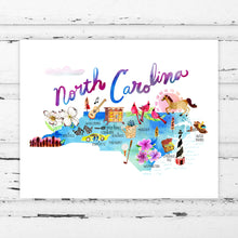 Load image into Gallery viewer, North Carolina Map by Sara Franklin