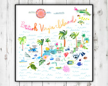 Load image into Gallery viewer, British Virgin Islands Map by Sara Franklin