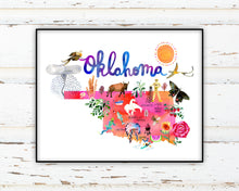 Load image into Gallery viewer, Oklahoma Map by Sara Franklin