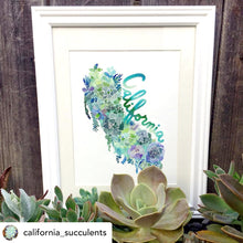 Load image into Gallery viewer, California Succulents Map in Garden Green by Sara Franklin