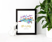 Load image into Gallery viewer, Personalized North Carolina Wedding Map by Sara Franklin