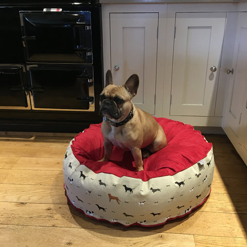 Sophie Allport Fabric Dog Bed - The Red Cosy