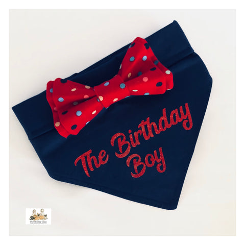 Birthday Personalised  Dog Bandana