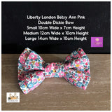 Liberty London Betsy Ann Pink Fabric Dog bowtie