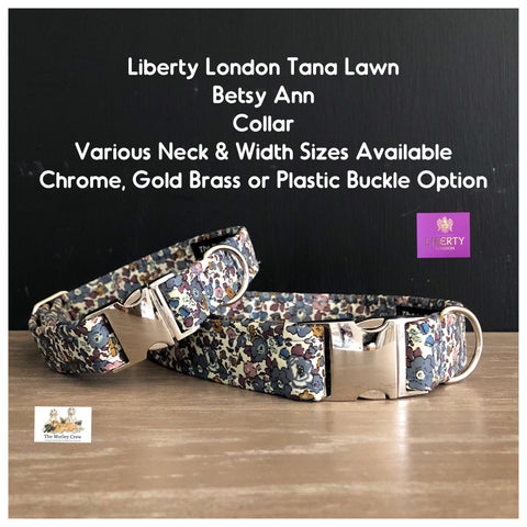 Liberty London Betsy Ann Fabric Dog Collar
