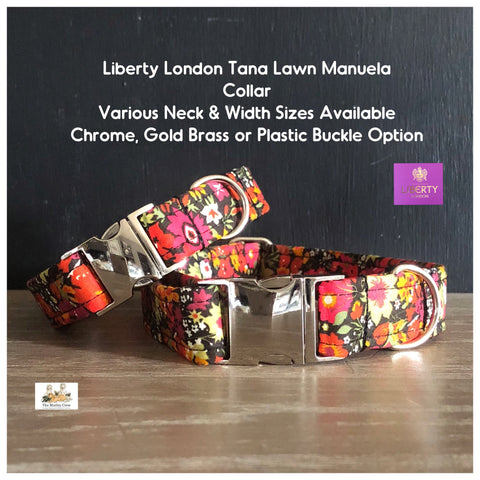 liberty london manuela tana lawn fabric dog collar